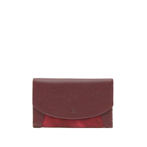 דגם קורל: ארנק לנשים בצבע בורדו