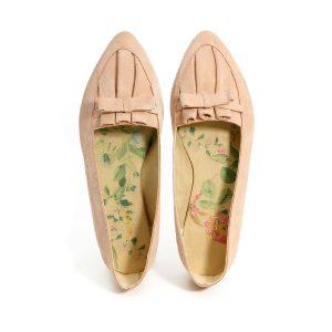 דגם הודיה: נעלי סירה בצבע ורוד - B.unique