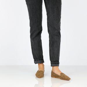 דגם מאיה: נעליים שטוחות בצבע קאמל מנומר - B.unique