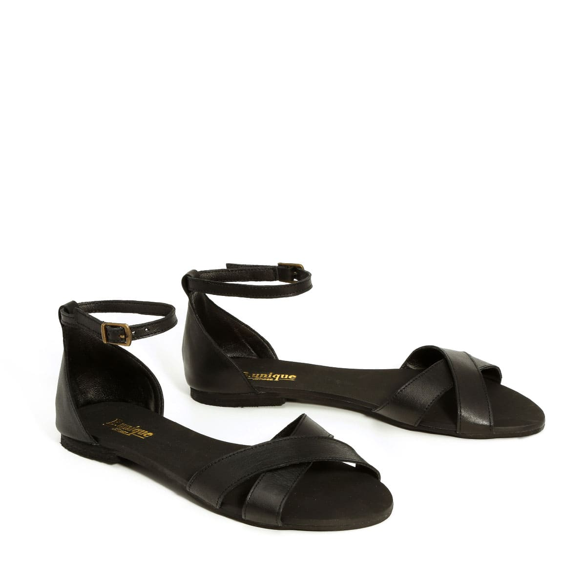 בלעדי לאתר - דגם לירן: סנדלים בצבע שחור