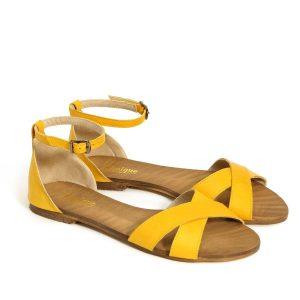 בלעדי לאתר - דגם לירן: סנדלים בצבע צהוב - B.unique