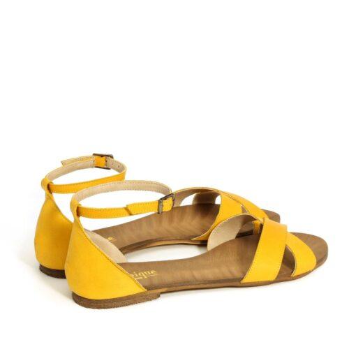 בלעדי לאתר - דגם לירן: סנדלים בצבע צהוב