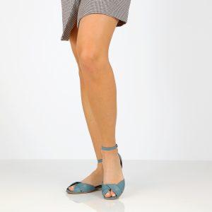 בלעדי לאתר - דגם אליאנה: סנדלים בצבע ג'ינס - B.unique