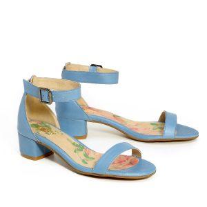 דגם דליה: נעלי עקב בצבע כחול - B.unique