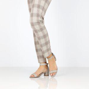 דגם דליה: נעלי עקב בצבע אפור - B.unique
