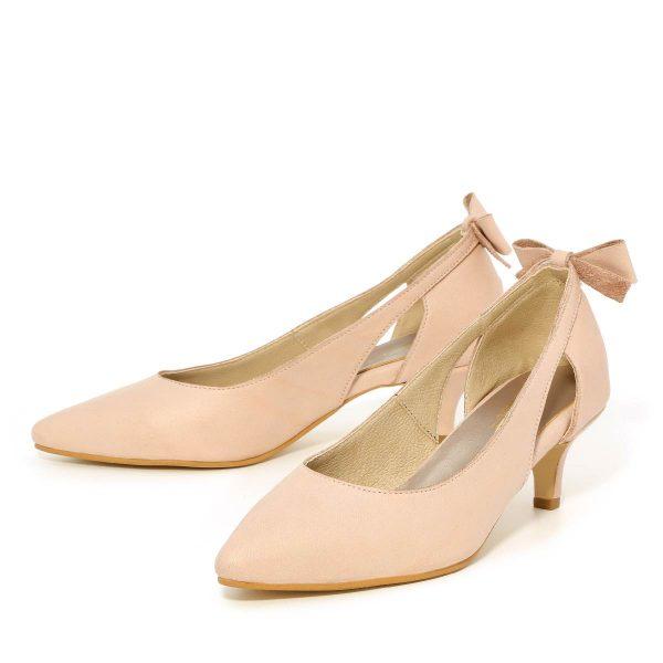 דגם גפן: נעלי נשים בצבע ניוד - B.unique