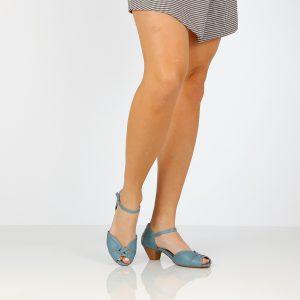 דגם דינה: סנדלים בצבע ג'ינס - B.unique