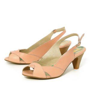 דגם לימור: נעלי עקב בצבע פודרה - B.unique