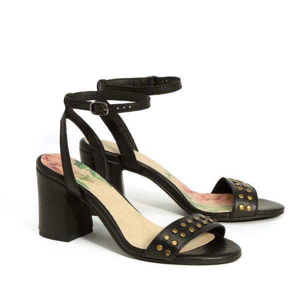 בלעדי לאתר - דגם אמה: נעלי עקב בצבע שחור - B.unique