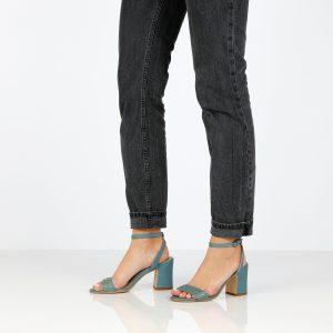 בלעדי לאתר - דגם אמה: נעלי עקב בצבע ג'ינס - B.unique