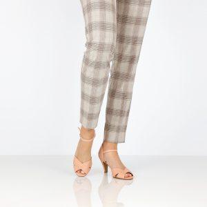 דגם טלי: נעלי עקב בצבע פודרה - B.unique
