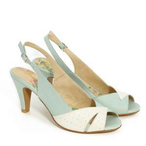 דגם סמדר: נעלי עקב בצבע מנטה - B.unique