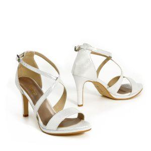 דגם שירז: נעלי עקב בצבע כסף - B.unique