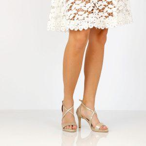 דגם שירז: נעלי עקב בצבע זהב - B.unique