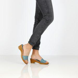 בלעדי לאתר - דגם מירב: כפכפים בצבע ג'ינס - Ben Yishay