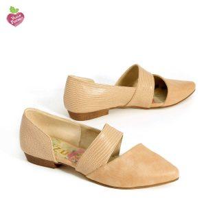 דגם מישל: נעלי נשים טבעוניות בצבע טאופ - MIZU