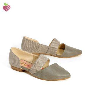 דגם מישל: נעלי נשים טבעוניות בצבע אפור - MIZU