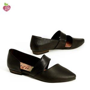 דגם מישל: נעלי נשים טבעוניות בצבע שחור - MIZU