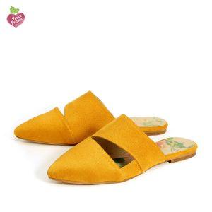דגם ניב: כפכפים טבעוניים בצבע צהוב - MIZU