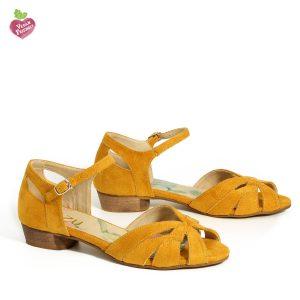 דגם אירית: סנדלים טבעוניים בצבע צהוב - MIZU