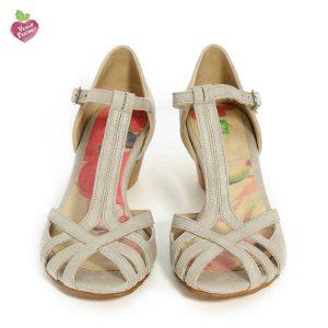 דגם אורנה: נעלי עקב טבעוניות בצבע אפור - MIZU