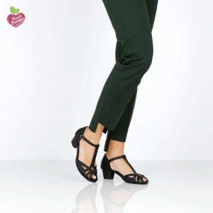 דגם אורנה: נעלי עקב טבעוניות בצבע שחור - MIZU