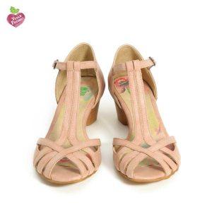 דגם אורנה: נעלי עקב טבעוניות בצבע ורוד - MIZU