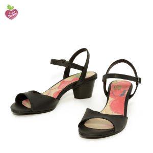 דגם שירלי: סנדלים טבעוניים בצבע שחור - MIZU