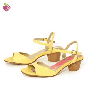דגם שירלי: סנדלים טבעוניים בצבע צהוב - MIZU