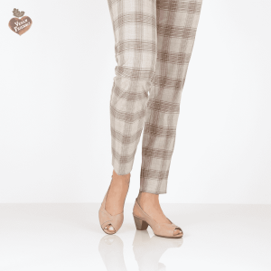 בלעדי לאתר - דגם ירדן: נעלי עקב טבעוניות בצבע ורוד - MIZU