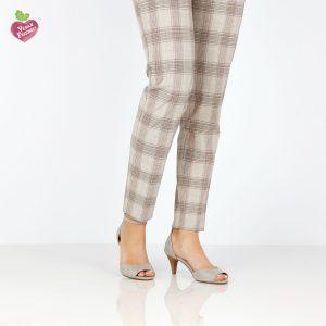דגם נירית: נעלי עקב טבעוניות בצבע אפור - MIZU