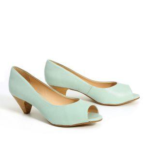 דגם ענבל: נעלי עקב בצבע מנטה - Rebecca Ashley
