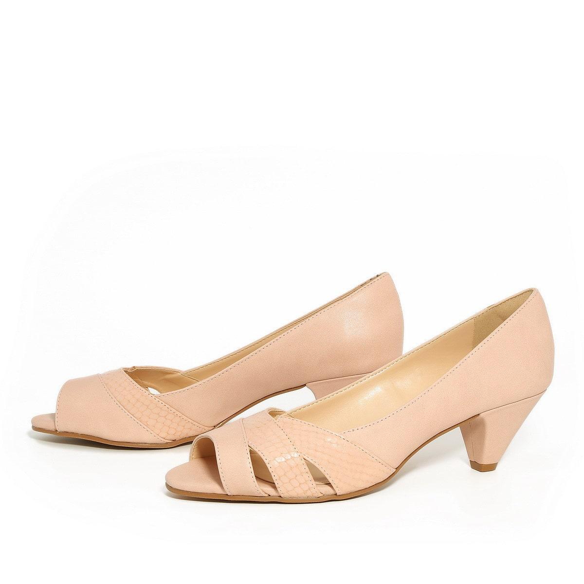 דגם עינת: נעלי עקב בצבע ורוד