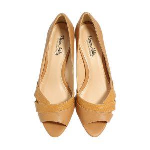 דגם עינת: נעלי עקב בצבע קאמל - Rebecca Ashley