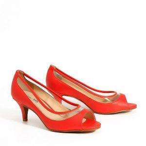 דגם נוף: נעלי עקב בצבע אדום - Rebecca Ashley