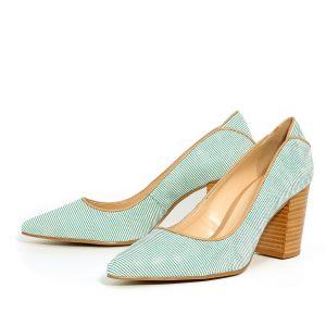דגם פלג: נעלי עקב בצבע ירוק - Rebecca Ashley