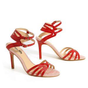 דגם אופיר: נעלי עקב בצבע אדום - Rebecca Ashley