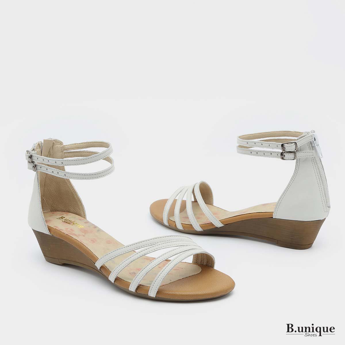 דגם טורונטו: סנדלים בצבע לבן - B.unique