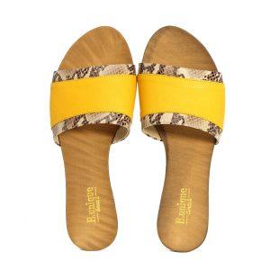 בלעדי לאתר - דגם ליהי: כפכפים בצבע צהוב - B.unique