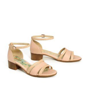 דגם רומי: נעלי עקב בצבע ניוד - B.unique