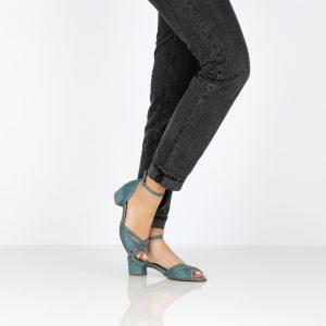 דגם אגם: סנדלי עקב בצבע ג'ינס - B.unique