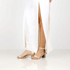 דגם עמית: נעלי עקב בצבע זהב- B.unique