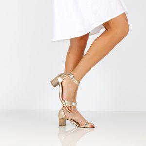 דגם עמית: נעלי עקב בצבע ניוד - B.unique