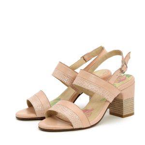 דגם תמר: נעלי עקב בצבע ניוד - B.unique
