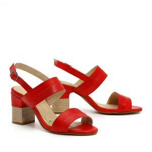 דגם תמר: נעלי עקב בצבע אדום - B.unique