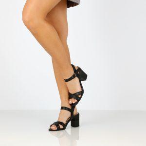 דגם דפני: נעלי עקב בצבע שחור - B.unique