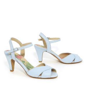 דגם טלי: נעלי עקב בצבע תכלת - B.unique