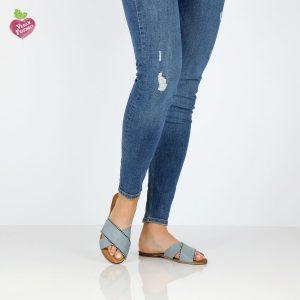 דגם הגר: כפכפים טבעוניים בצבע ג'ינס - MIZU