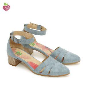 דגם קרן: נעליים טבעוניות בצבע ג'ינס - MIZU