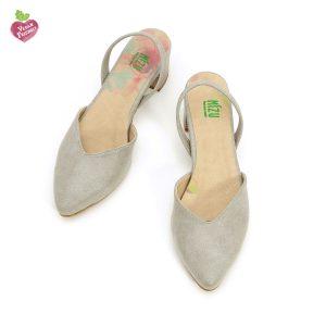 דגם אתי: נעלי סירה טבעוניות בצבע אפור - MIZU